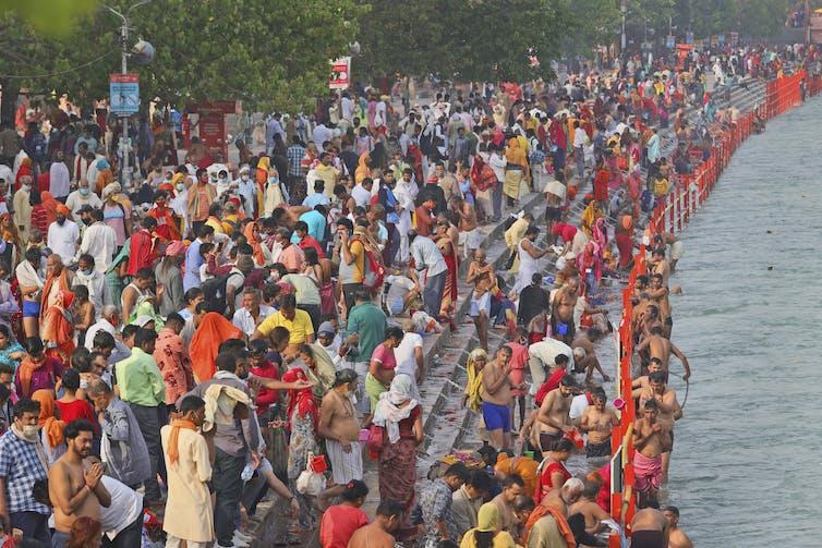 Millions take part in Hindu festival.