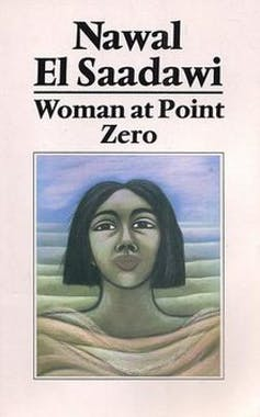 A book cover with an illustration of a woman's head looking resolutely ahead, appearing to rise from waves of ocean or sand.