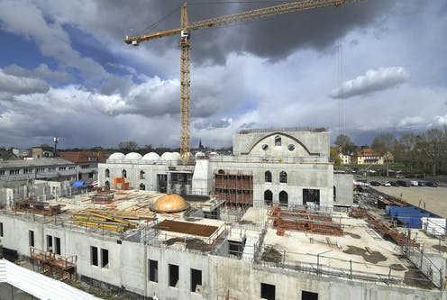 Costruction site of Eyyub Sultan Mosque in Strasbourg