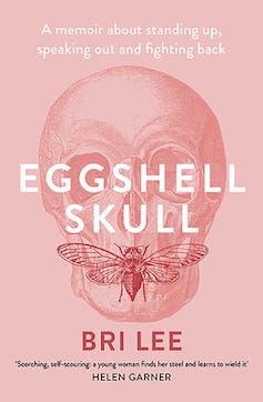 book cover: eggshell skull