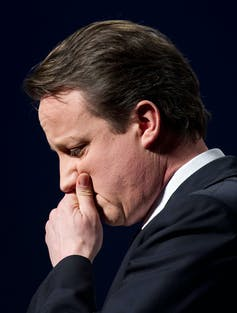 David Cameron looking pensive