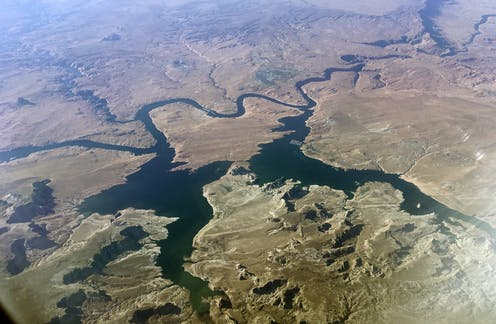 Seven western states share water from the Colorado River.