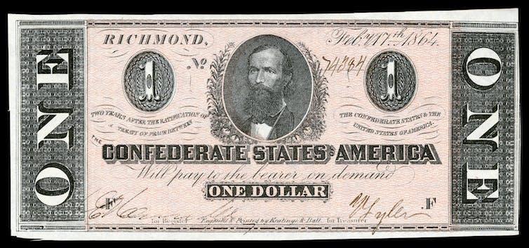 A Confederate $1 bill