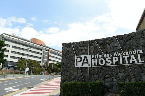 A general view outside Princess Alexandra Hospital, Brisbane.