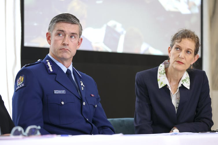 Police Commissioner Andrew Coster and Director-General of Security Rebecca Kitteridge