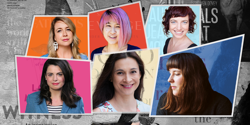 Headshots of the six shortlisted writers