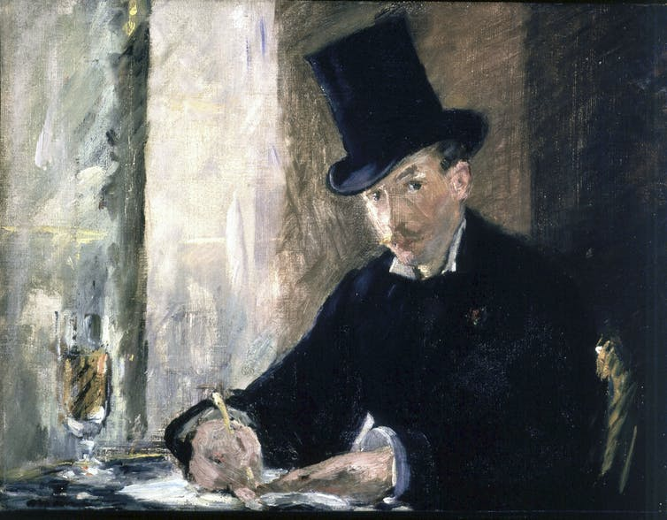 painting of man in top hat.