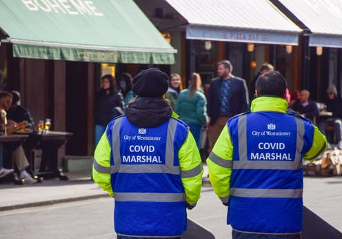 ovid Marshals seen in Old Compton Street, London