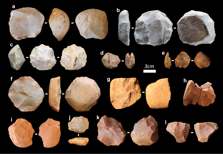 stone tools paired together
