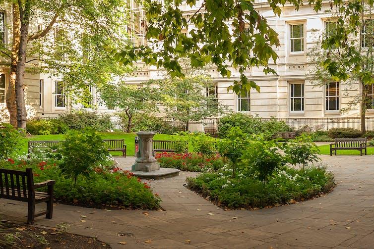 A pretty London park.