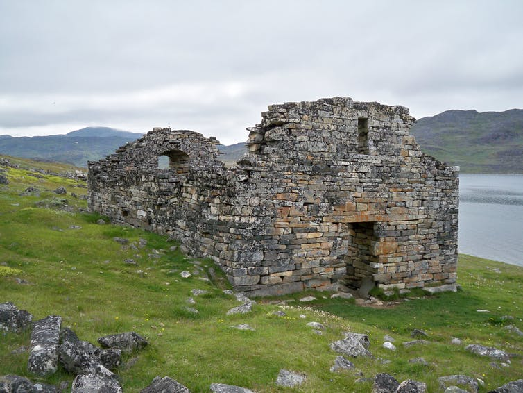 A ruined church of Vikings who travelled to Greenland.