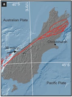 Graphic of Alpine Fault