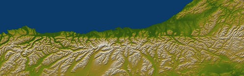Satellite image of New Zealand's South Island