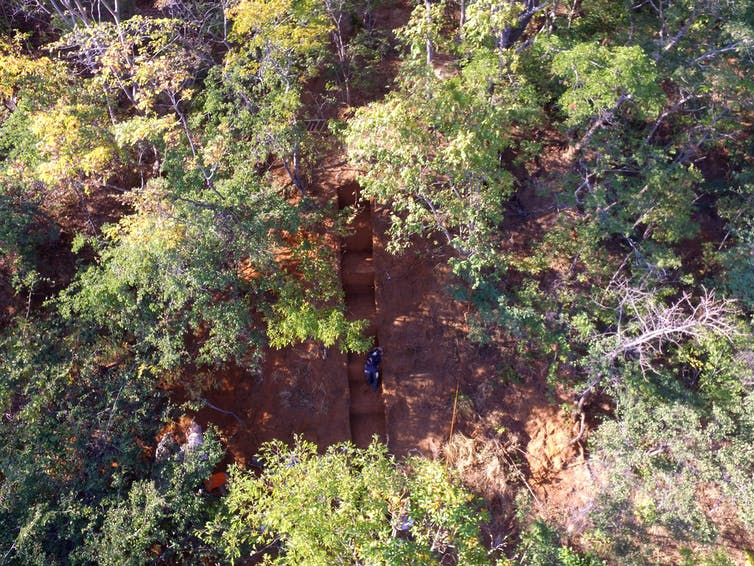 aerial view of an excavation site in Malawi