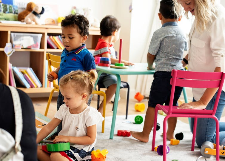 Children at a childcare facility