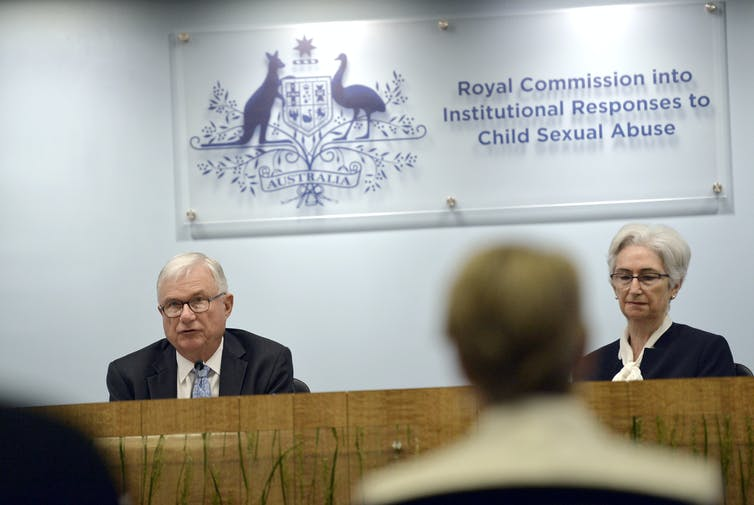 Commissioners at the final hearing of the child abuse royal commission.