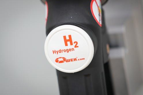A hydrogen logo