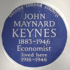 Memorial at 46 Gordon Square, London.