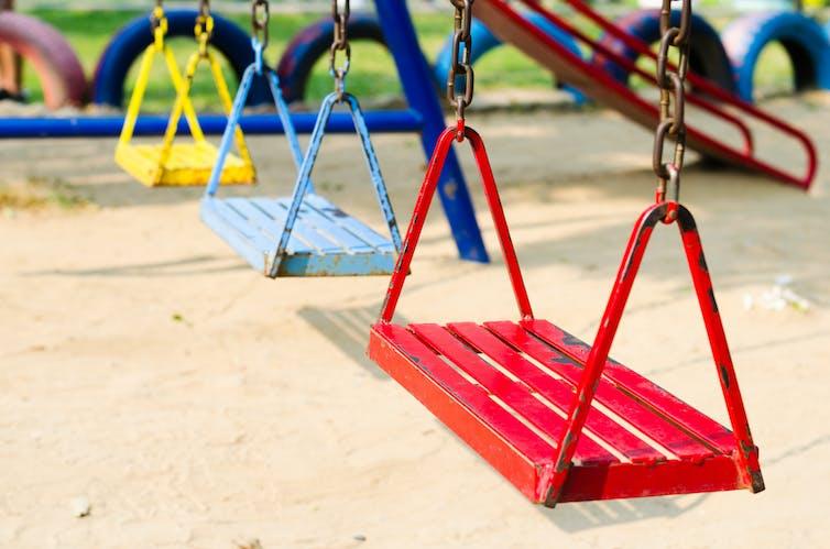 Painted swings.