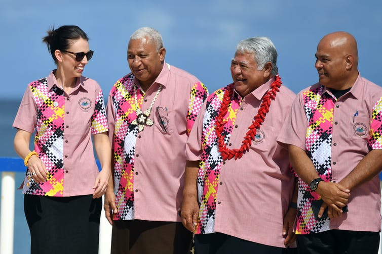 Pacific leaders in a line
