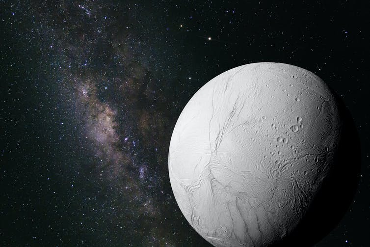 Image of Saturn's moon Enceladus could host life.