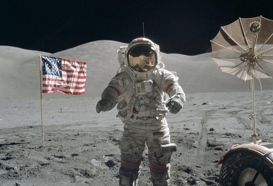 Eugene Cernan on the Moon
