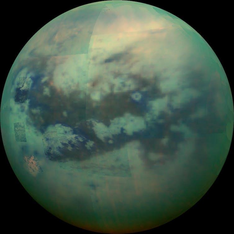 An image of Saturn's moon Titan