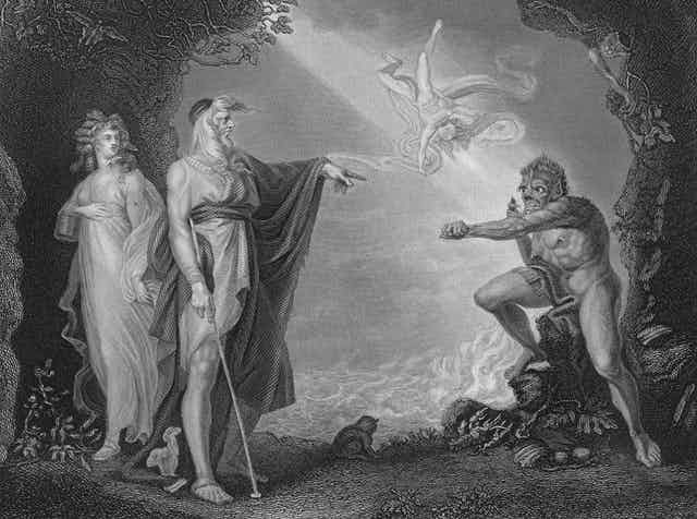 A depiction of the half-human Caliban from Shakespeare's The Tempest