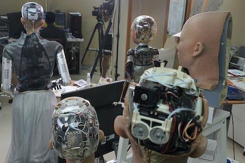 back/inside of robots heads