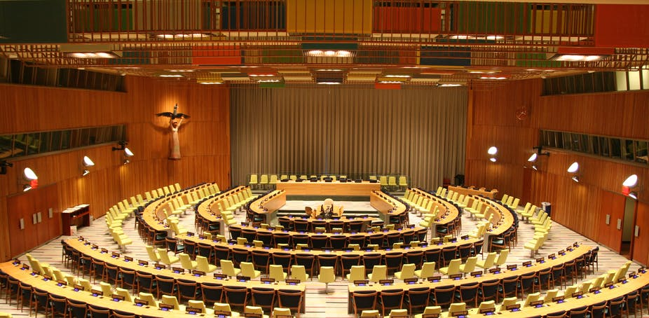 The United Nations Trusteeship Council chamber