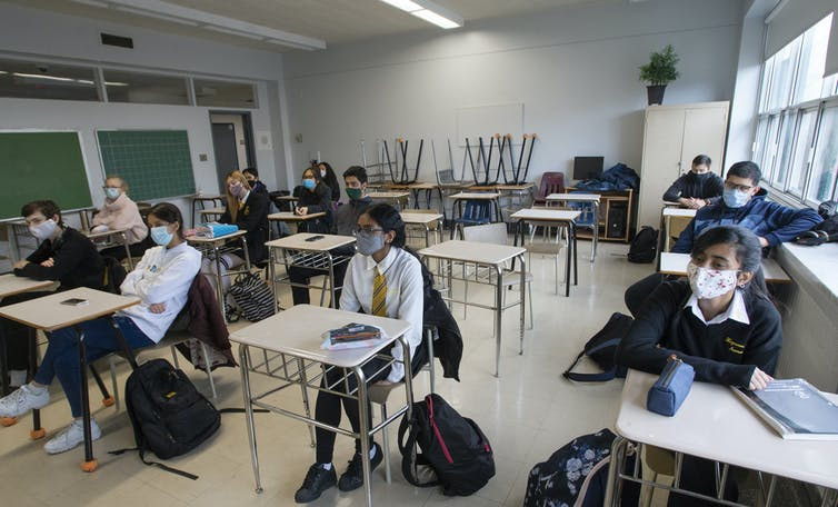 Students in a class.