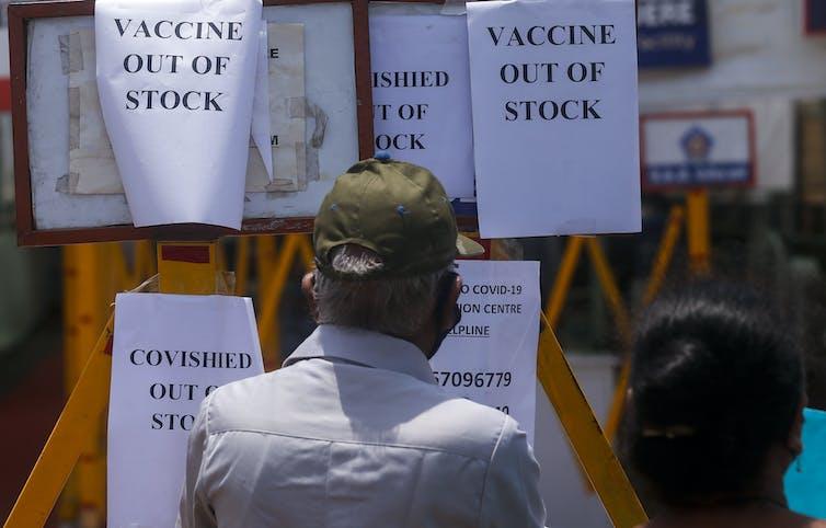 Vaccine shortage notice in Mumbai