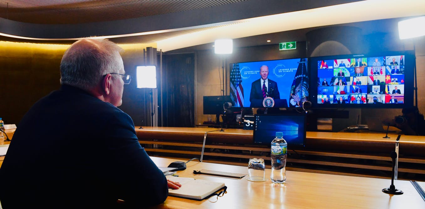 Spot the difference: As world leaders rose to the occasion at the Biden climate summit Morrison faltered – The Conversation AU