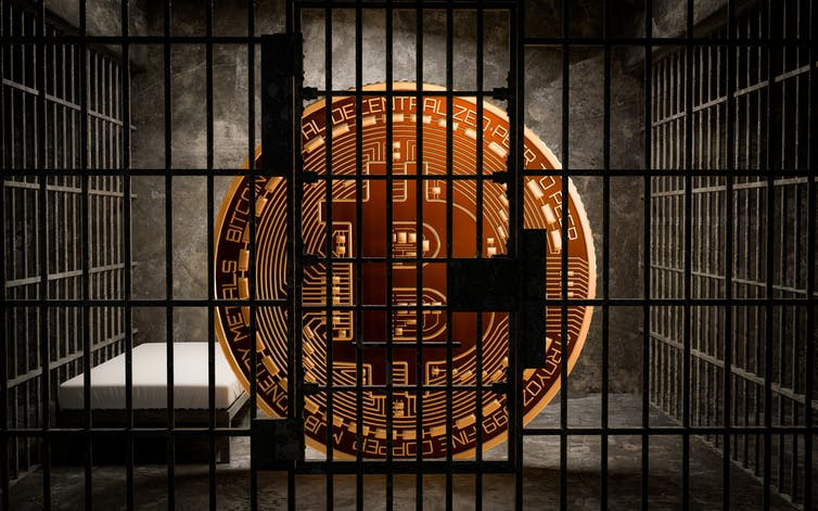 Bitcoin bị nhốt trong tù
