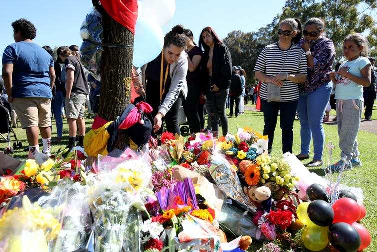 A memorial service for two Aboriginal teenagers who drowned after being chased by police.
