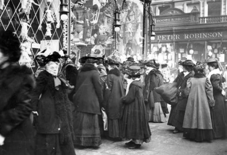 Victorians out shopping