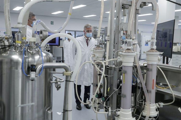 A Pfizer production site in Puurs, Belgium