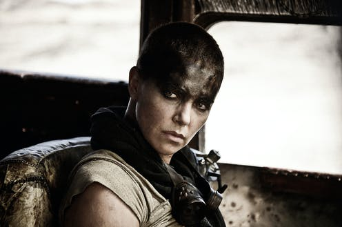 Charlize Theron in a scene from Mad Max: Fury Road