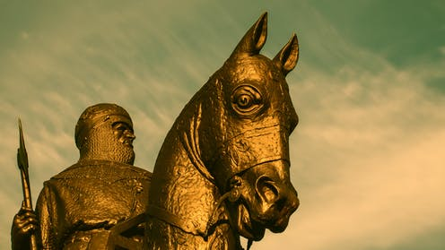 Robert the Bruce statue at the site of the Battle of Bannockburn.