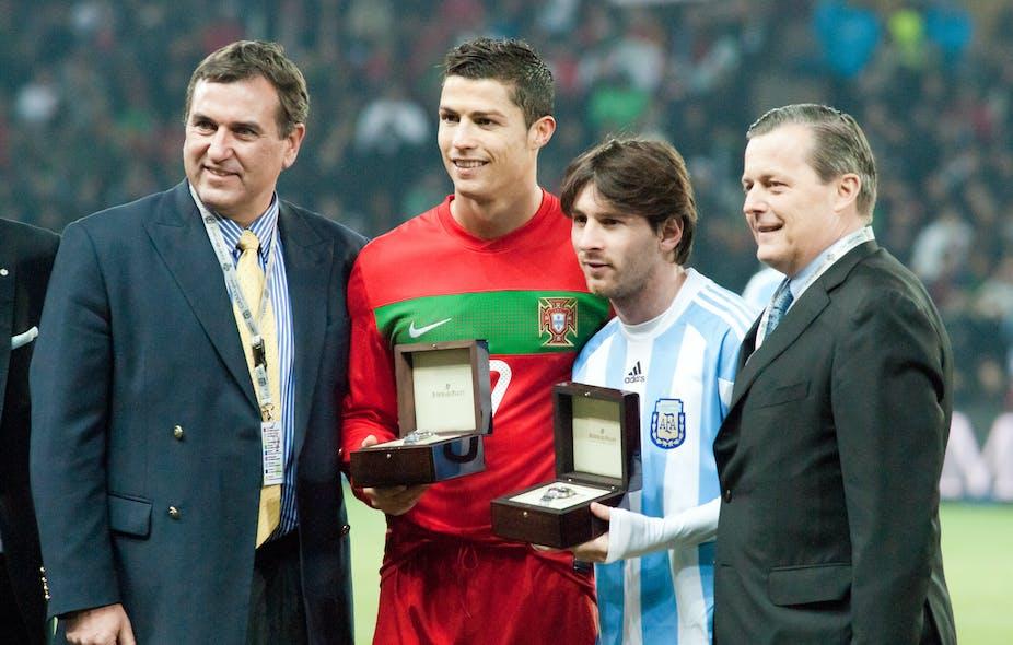 Cristiano Ronaldo and Lionel Messi, 2011.