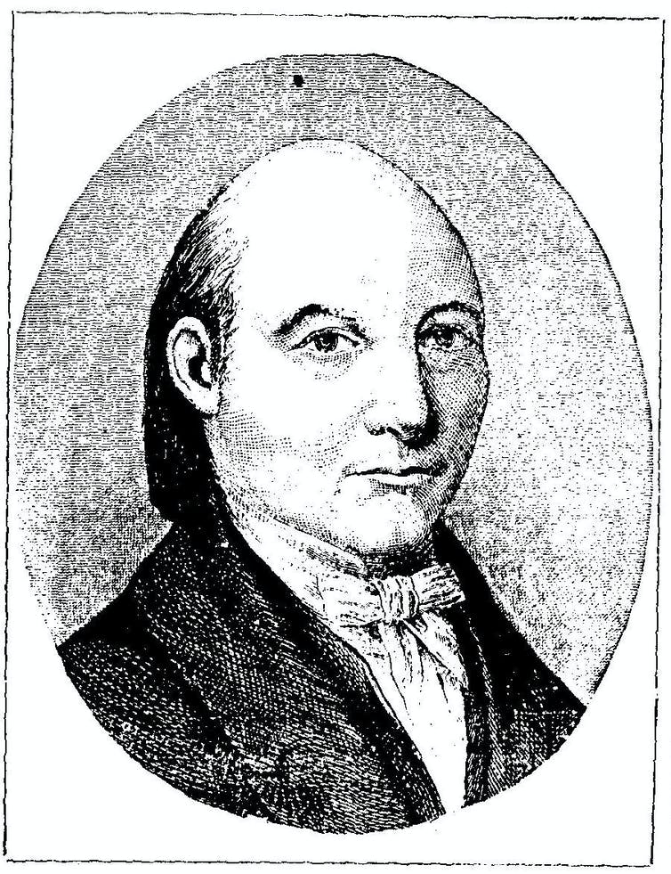 A depiction of James Mercer from 1881's History of the Baptist Denomination in Georgia