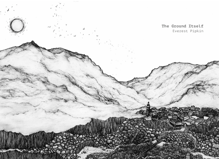 Drawing of a landscape.
