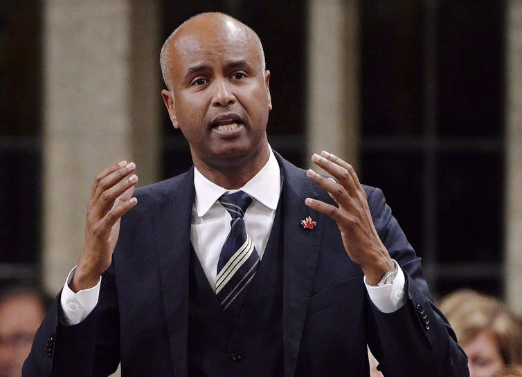 Minister of Immigration, Refugees and Citizenship Ahmed Hussen responds to questions