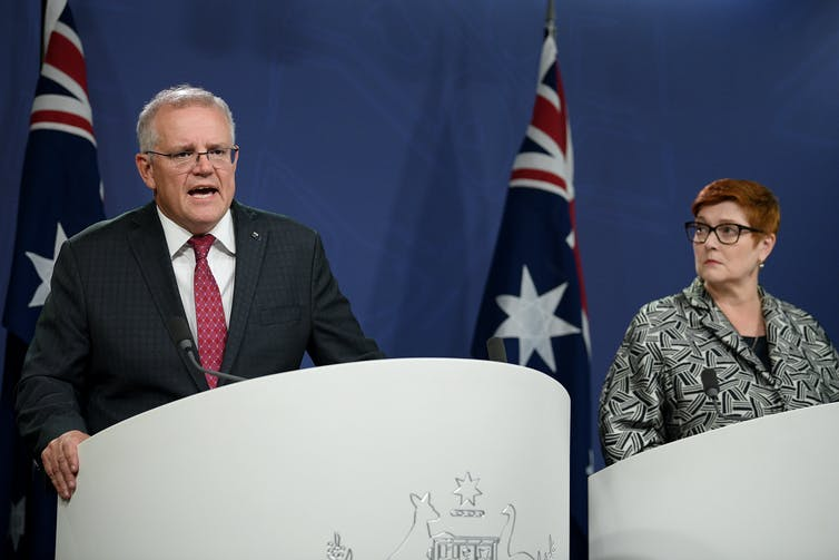 Prime Minister Scott Morrison and Foreign Minister Marise Payne.