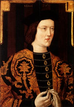 Portrait of medieval king.