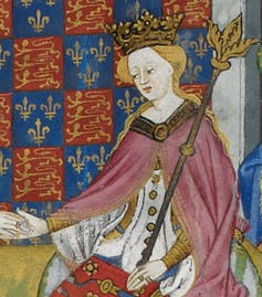 Medieval painting of a queen.