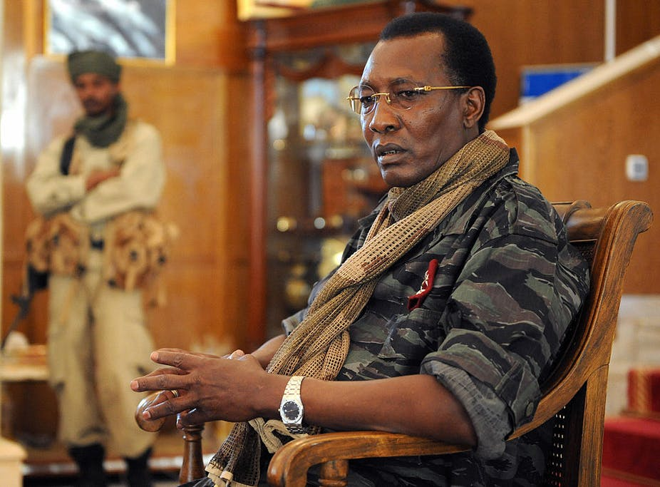 A portrait of Idriss Deby