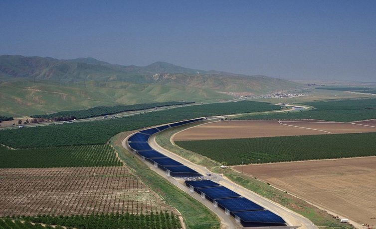 Solar panels would form a glass roof over canals.
