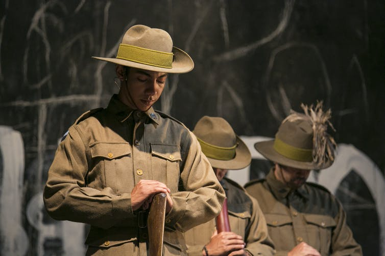 Black Diggers memorializes often-forgotten indigenous soldiers in the Australian War. Photo Credit: Jamie Williams/Sydney Festival
