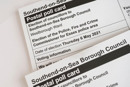 A polling card for a police, fired and crime commissioner for Essex